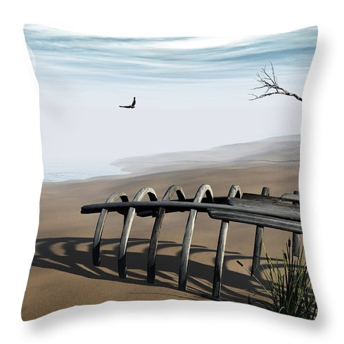 Surreal Throw Pillow featuring the digital art Dream Lake by Richard Rizzo