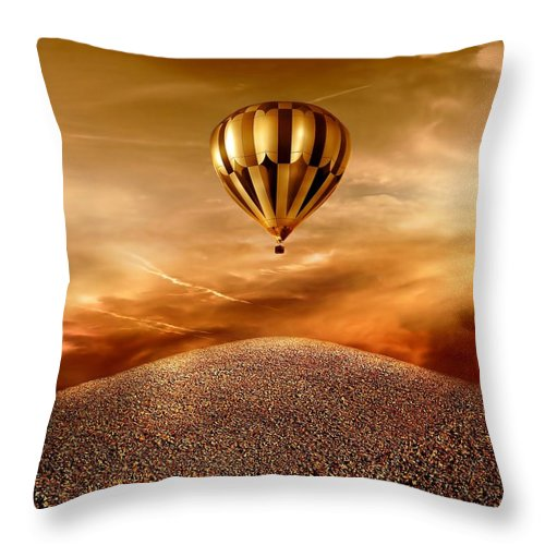 Golden Throw Pillow featuring the photograph Dream by Jacky Gerritsen