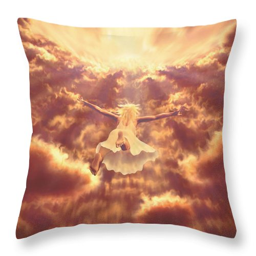 Ascention Throw Pillow featuring the painting Dream Quest by Robby Donaghey