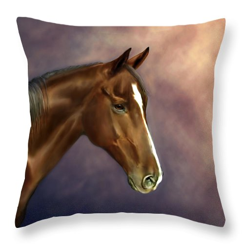 Bhymer Throw Pillow featuring the painting Dreamer by Barbara Hymer
