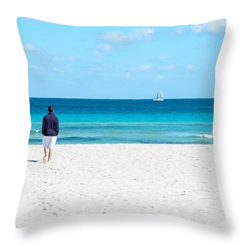 Alone Throw Pillow featuring the photograph Dreaming by Edward Sobuta
