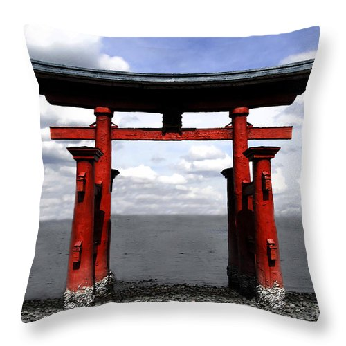 Japan Throw Pillow featuring the photograph Dreaming In Japan by David Lee Thompson