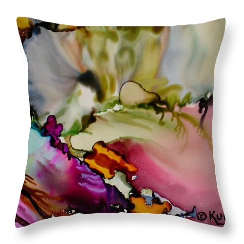 Abstract Throw Pillow featuring the painting Dreaming by Susan Kubes