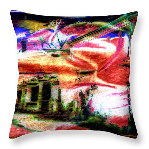 Home Throw Pillow featuring the photograph Dreamland by Pennie McCracken