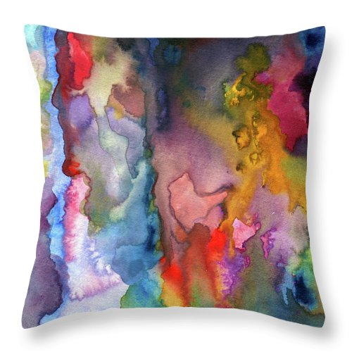 Painting Throw Pillow featuring the painting Dreams by Ceil Diskin