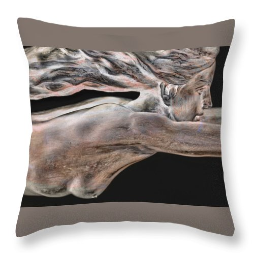Portraits Throw Pillow featuring the photograph Dreams Of Flight by Holly Kempe