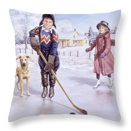 Winter Throw Pillow featuring the painting Dreams Of Glory by Richard De Wolfe