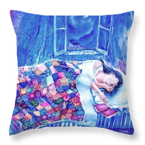 Dreams Throw Pillow featuring the painting Dreams Of Love by Trudi Doyle