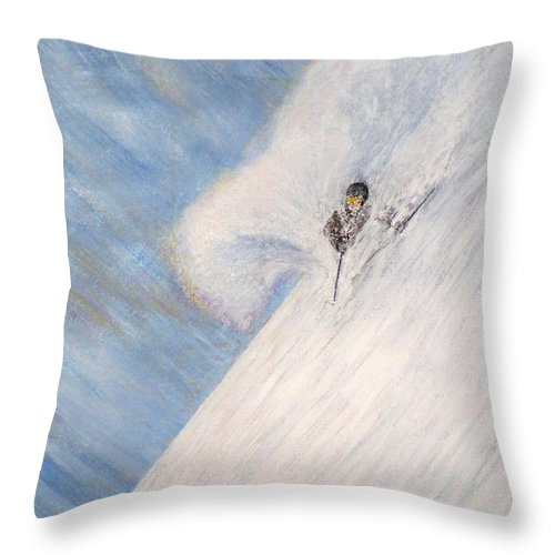 Landscape Throw Pillow featuring the painting Dreamsareal by Michael Cuozzo