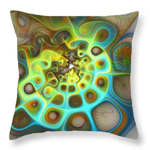 Digital Art Throw Pillow featuring the digital art Dreamscapes by Amanda Moore