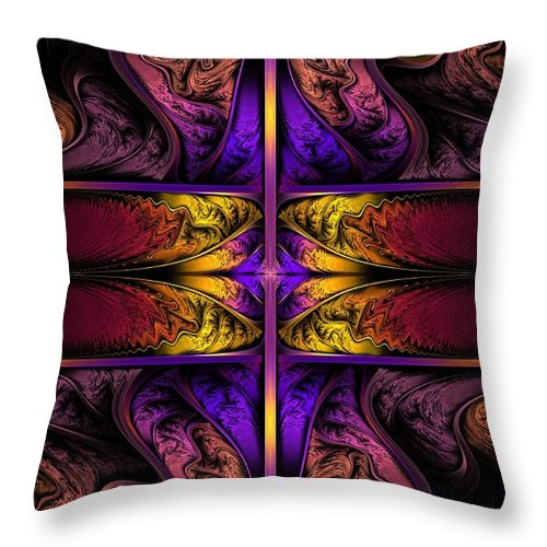 Apo Throw Pillow featuring the digital art Dreamstate Alpha by Lyle Hatch