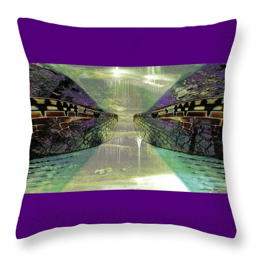 Gondwana Throw Pillow featuring the painting Dreamtime Gondwanaland by Sarah King