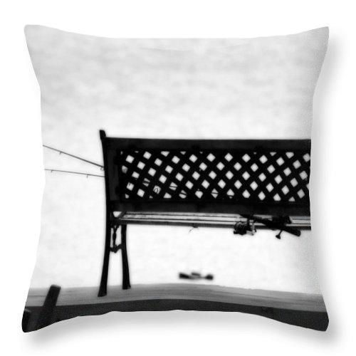 Fishing Throw Pillow featuring the photograph Dreamy Fishing Spot by Cathy Beharriell