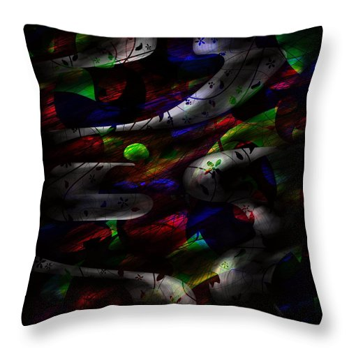 Abstract Throw Pillow featuring the digital art Dreamy by Rachel Christine Nowicki
