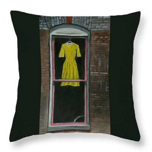 Original Throw Pillow featuring the painting Dress Up by Stephen King