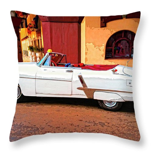 Dressed Up Throw Pillow featuring the mixed media Dressed Up by Dominic Piperata