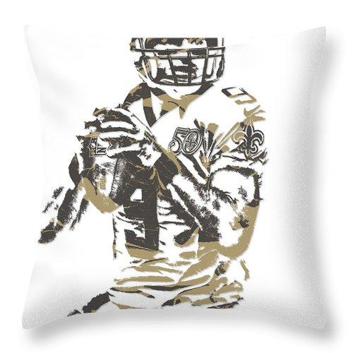 0ff80c5d6 Drew Brees New Orleans Saints Pixel Art 7 Throw Pillow for Sale by Joe  Hamilton