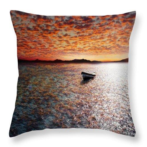Ocean Throw Pillow featuring the photograph Drift Away by Jacky Gerritsen