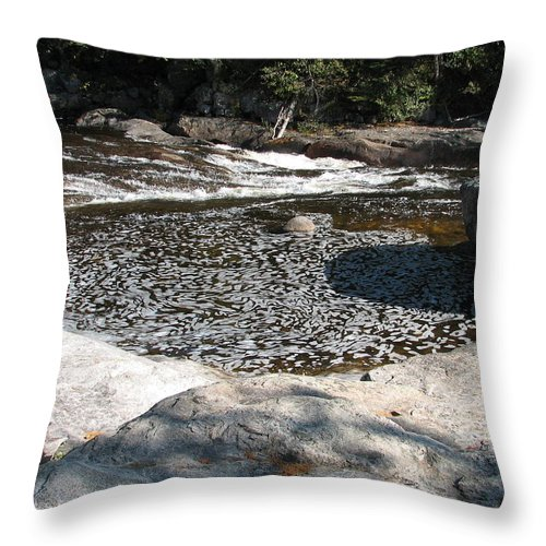 River Throw Pillow featuring the photograph Drifting Dreams by Kelly Mezzapelle