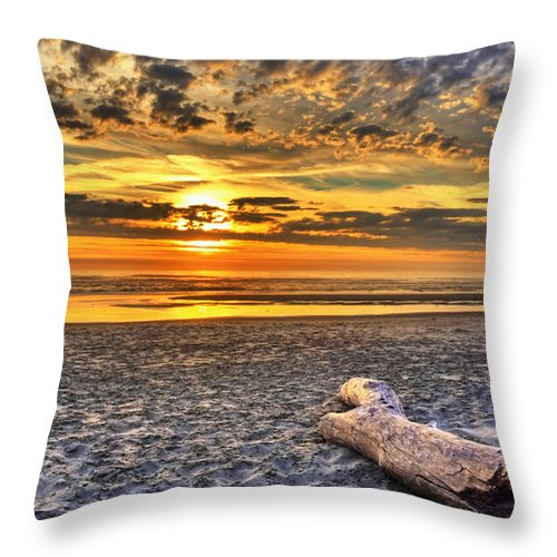 Driftwood Throw Pillow featuring the photograph Drifting Into A Dream by Tyra OBryant
