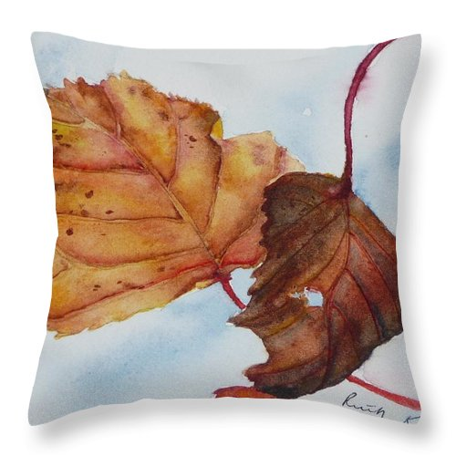 Fall Throw Pillow featuring the painting Drifting by Ruth Kamenev