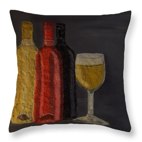 Still Life Paintings Throw Pillow featuring the painting Drink After Midnight by Leslye Miller