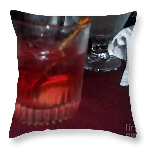 Drinks Throw Pillow featuring the photograph Drink Up by Debbi Granruth