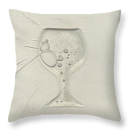 Wine Throw Pillow featuring the painting Drinking Alone by Rick Silas