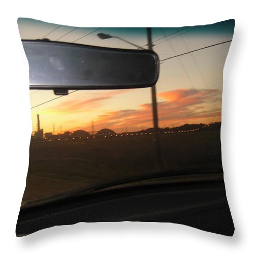 Sunset Throw Pillow featuring the photograph Driving Red Clouds....... by WaLdEmAr BoRrErO