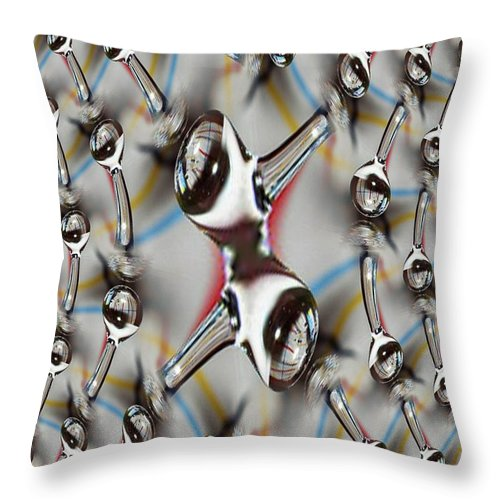 Water Throw Pillow featuring the photograph Droplet 2 by Tim Allen
