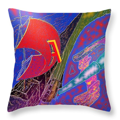 Drugs Throw Pillow featuring the digital art Drugs by Helmut Rottler