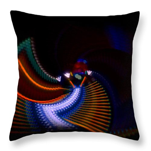 Chaos Throw Pillow featuring the photograph Drummer Dance by Charles Stuart