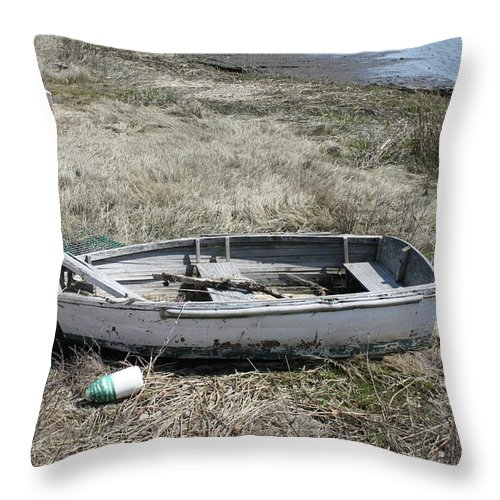 Scenic Throw Pillow featuring the photograph Dry Docked by Erin Rosenblum