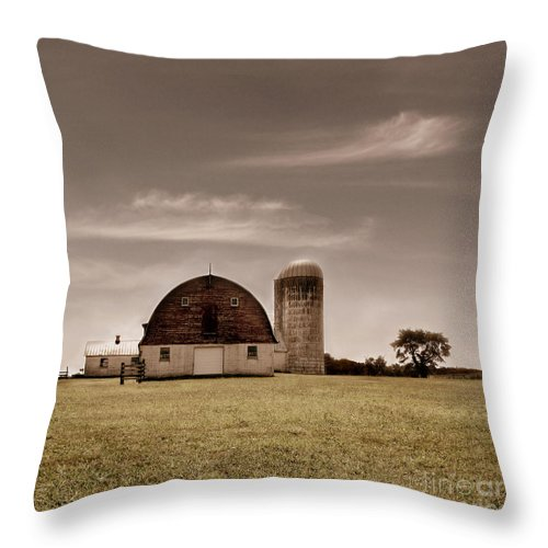 Farm Throw Pillow featuring the photograph Dry Earth Crumbles Between My Fingers And I Look To The Sky For Rain by Dana DiPasquale