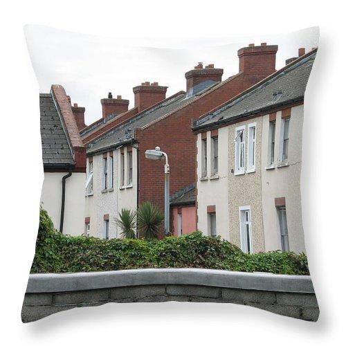 Dublin Throw Pillow featuring the photograph Dublin by Kelly Mezzapelle