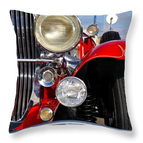 Car Throw Pillow featuring the photograph Duesenberg by Tim Nyberg