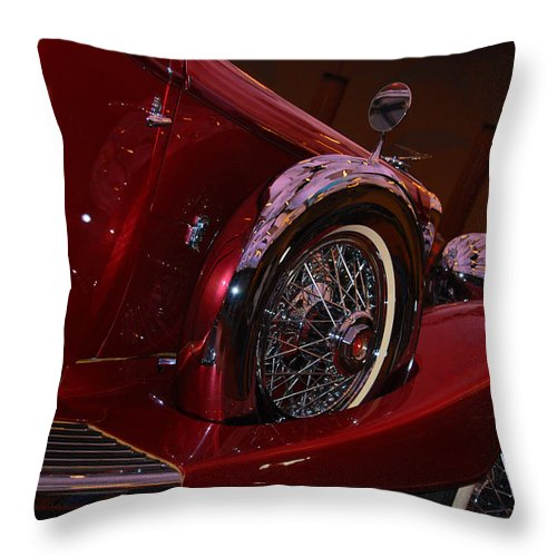 Cars Throw Pillow featuring the photograph Duesenberg Side View by Susanne Van Hulst