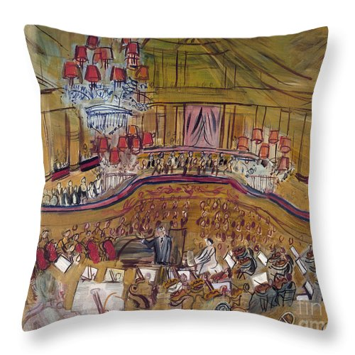1948 Throw Pillow featuring the photograph Dufy: Grand Concert, 1948 by Granger