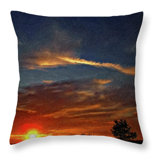 Sauble Beach Throw Pillow featuring the photograph Dune Dreaming Impasto by Steve Harrington