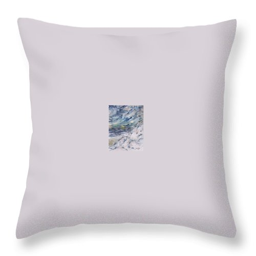 Seascape Throw Pillow featuring the painting Dunes 2 Seascape Painting Poster Print by Derek Mccrea