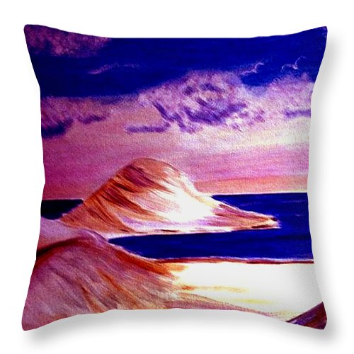 Sand Dunes Throw Pillow featuring the painting Dunes by Rusty Gladdish
