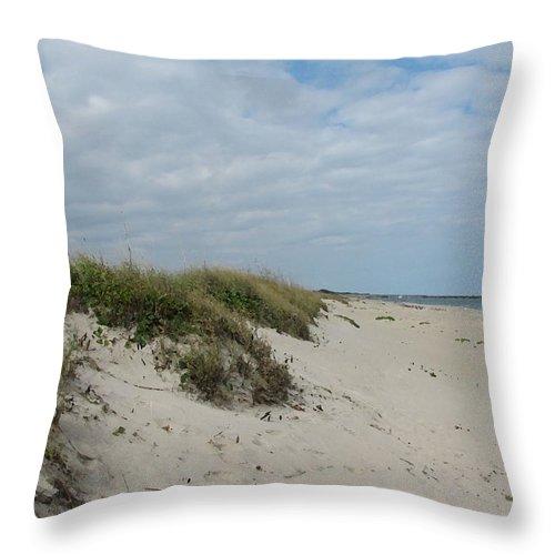 Florida Throw Pillow featuring the digital art Dunes1 by Lin Grosvenor