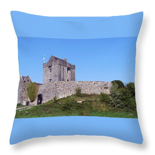 Irish Throw Pillow featuring the photograph Dunguaire Castle Kinvara Ireland by Teresa Mucha