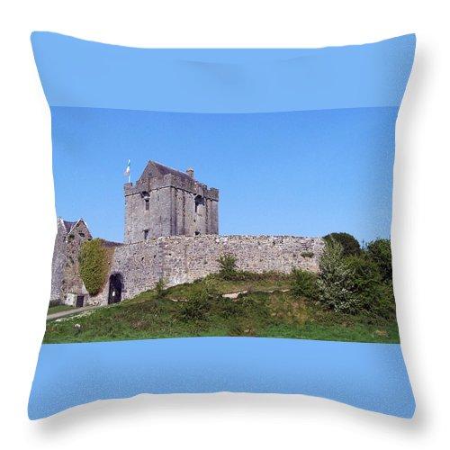 Irish Throw Pillow featuring the photograph Dunguaire Castle Kinvara Ireland by Teresa Mucha