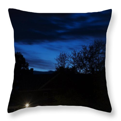 Silhouette Throw Pillow featuring the photograph Dusk by Faith Harron Boudreau