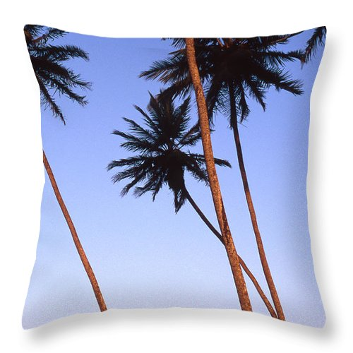 Bahia Throw Pillow featuring the photograph Dusk In Morro by Patrick Klauss
