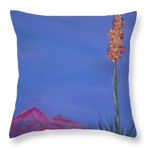 Evening Throw Pillow featuring the painting Dusk by Melinda Etzold