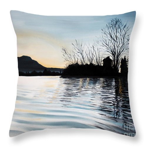 Dusk Throw Pillow featuring the painting Dusk On Diablo by Elizabeth Robinette Tyndall
