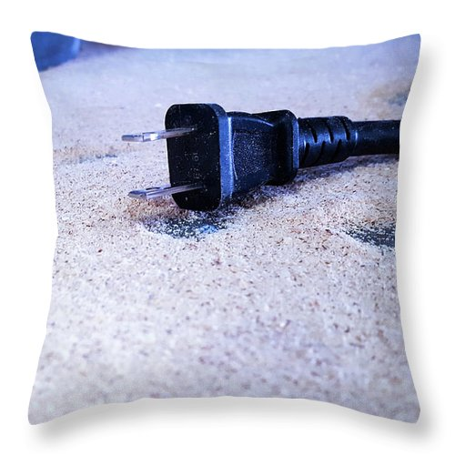 Saw Throw Pillow featuring the photograph Dust On The Floor by Ric Schafer