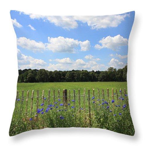The Netherlands Throw Pillow featuring the photograph Dutch Blue by Carol Groenen